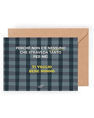 "UO* Greeting Card ""Ti voglio bene nonno"" - Gift idea Greetings Cards"