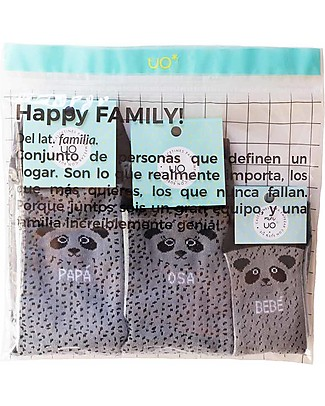 "UO Kit Family ""Familia Oso"", Panda - Gift idea whole family Socks"