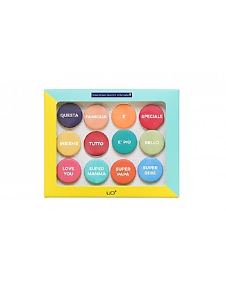 "UO ""Kit Family Magnets"" Gift idea - Includes 12 colourful fridge magnets to share your love! Party Favours"