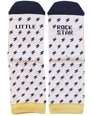 "UO Mini - Calcetines ""Little Rock Star"" Amarillo Socks"