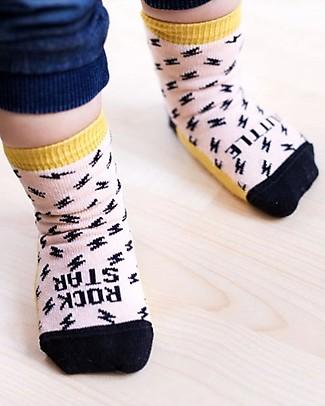"UO Mini - Calcetines ""Little Rock Star"" Amarillo Socks"