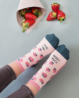 "UO* Socks ""Love You Berry Much""- Gift idea, Pink Socks"