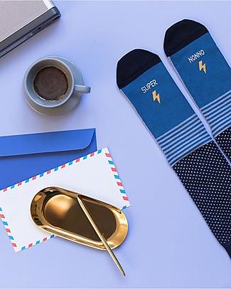 "UO Socks ""Super Nonno"" Gift idea, blue Socks"