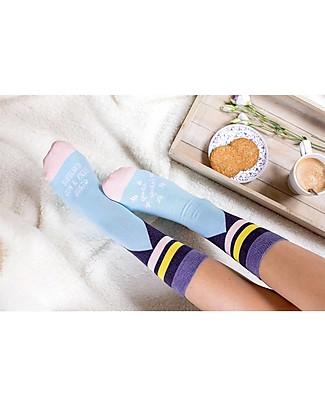 """UO Socks """"Svegliati con il piede giusto""""- Gift idea, Light Blue Socks"""