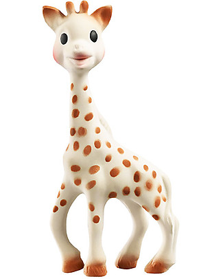 Vulli Sophiesticated Set: Sophie Giraffe and Teething Ring Soft Model - Gift Wrapped! Rattles