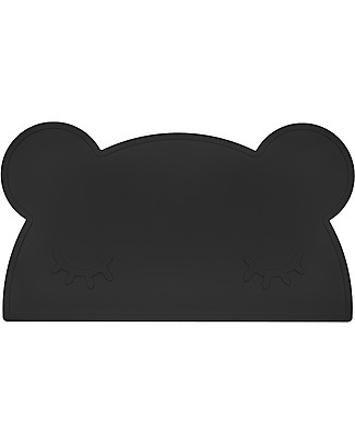 We Might Be Tiny Bear Placie Non-slip Placemat, Charcoal - BPA free! Meal Sets