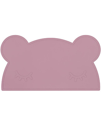We Might Be Tiny Bear Placie Non-slip Placemat, Dusty Rose - BPA free! Meal Sets