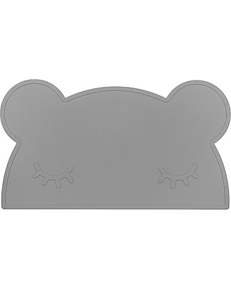 We Might Be Tiny Bear Placie Non-slip Placemat, Grey - BPA free! Meal Sets