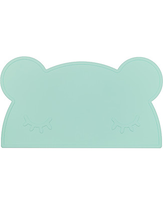 We Might Be Tiny Bear Placie Non-slip Placemat, Mint - BPA free! Meal Sets