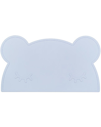 We Might Be Tiny Bear Placie Non-slip Placemat, Powder Blue - BPA free! Meal Sets