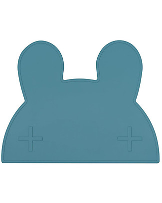 We Might Be Tiny Bunny Placie Non-slip Placemat, Blue Dusk - BPA free! Meal Sets