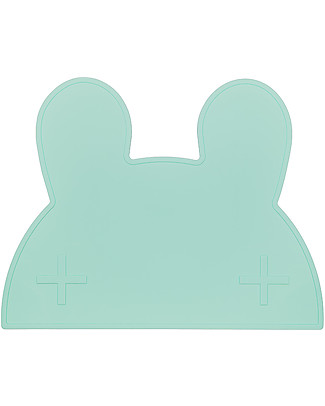 We Might Be Tiny Bunny Placie Non-slip Placemat, Mint  - BPA free! Meal Sets