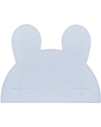 We Might Be Tiny Bunny Placie Non-slip Placemat, Powder Blue - BPA free! Meal Sets