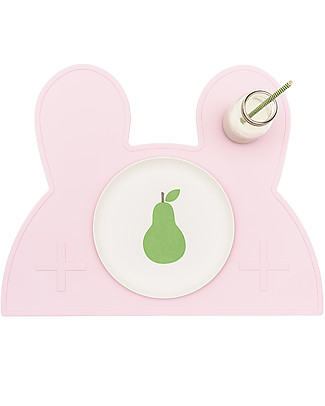 We Might Be Tiny Bunny Placie Placemat, Pink  - BPA free! null