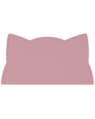 We Might Be Tiny Cat Placie Non-slip Placemat, Dusty Rose - BPA free! Meal Sets
