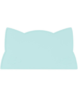 We Might Be Tiny Cat Placie Non-slip Placemat, Mint - BPA free! Meal Sets