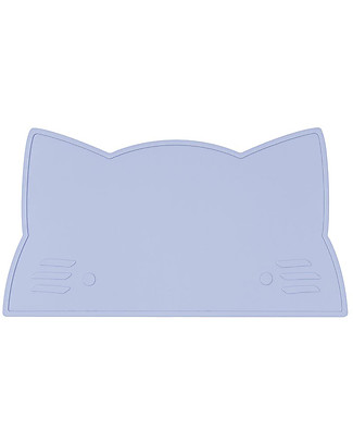 We Might Be Tiny Cat Placie Non-slip Placemat, Powder Blue - BPA free! Meal Sets