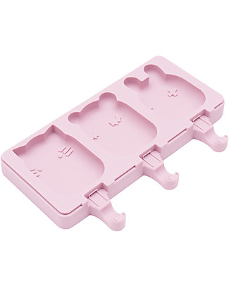 We Might Be Tiny Frostie Icy Pole Moulds Cat/Bear/Bunny, Pink - BPA free! Snack and Formula Containers