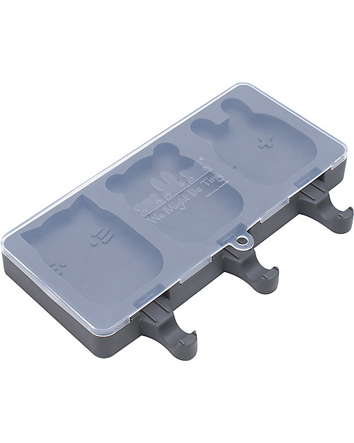 We Might Be Tiny Icy Pole Moulds Cat/Bear/Bunny, Charcoal - BPA free! Snack and Formula Containers