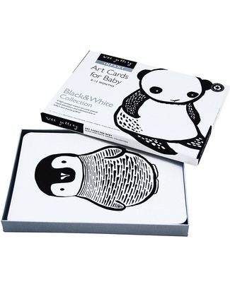 Wee Gallery Art Cards - Black and White Collection (black and white so newborns can see them) Newborn Toys