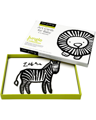 Wee Gallery Art Cards - Jungle Animals (black and white so newborns can see them) Newborn Toys