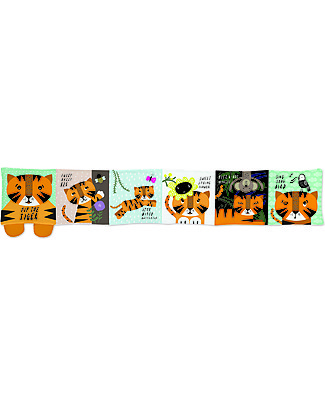 Wee Gallery Baby's First Book, Tip Toe Tiger - Soft fabric book for young children Story Making Games