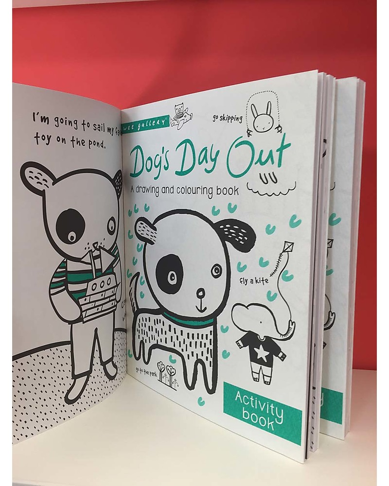 wee gallery dogs day out activity book a drawing and coloring book interactive book