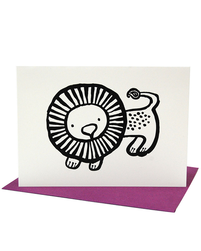 Wee gallery lion greeting card envelope unisex bambini wee gallery lion greeting card envelope greetings cards m4hsunfo