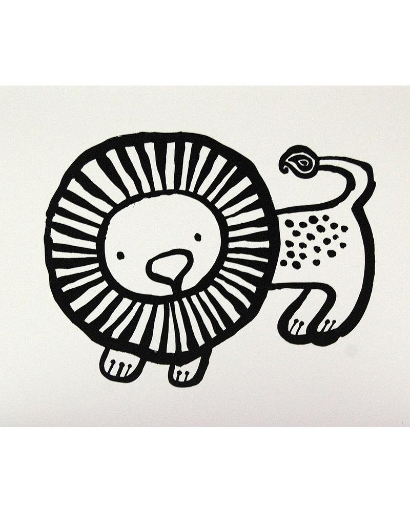Wee Gallery Lion Greeting Card + Envelope Greetings Cards