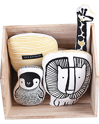 Wee Gallery Nursery Friends, Penguin – 20 cm - Organic Cotton Cushions