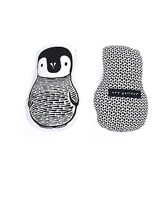 Wee Gallery Nursery Friends, Penguin – 20 cm - Organic Cotton Soft Toys