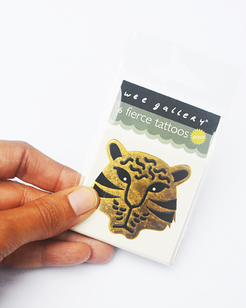 Wee Gallery Temporary Tattoos - Fierce (6 pieces) non-toxic and safe ...