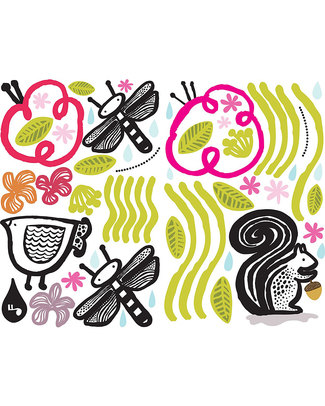 Wee Gallery Wall Graphics - Friends of the Garden (new 2013 version) - Transferable and Safe Wall Stickers