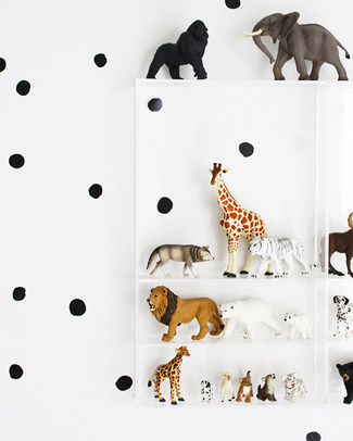 Wee Gallery Weecal Dots - Black - Wall Stickers (movable and safe!) Wall Stickers