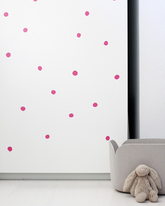 Wee Gallery Weecal Dots - Hot Pink - Wall Stickers (movable and safe!) Wall Stickers