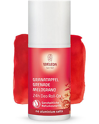 Weleda Deodorants Roll‐On 24h, Pomegranate - 50ml Deodorant