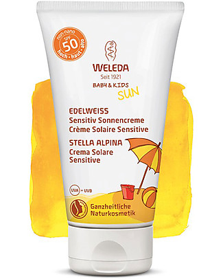 Weleda Sensitive Sun Lotion SPF 50, Stella Alpina - 50ml Sun Screen