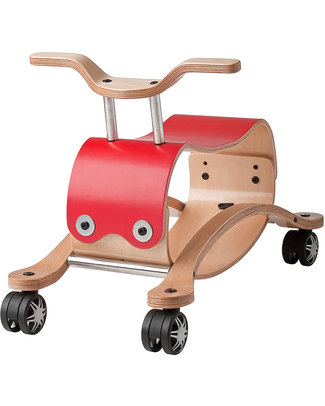 Wishbone Design Studio Wishbone Flip 3 in 1 Red Indoor Ride-on Toy: grows with your child (adaptable from ages 1 to 5) Super-sustainable! Rides On