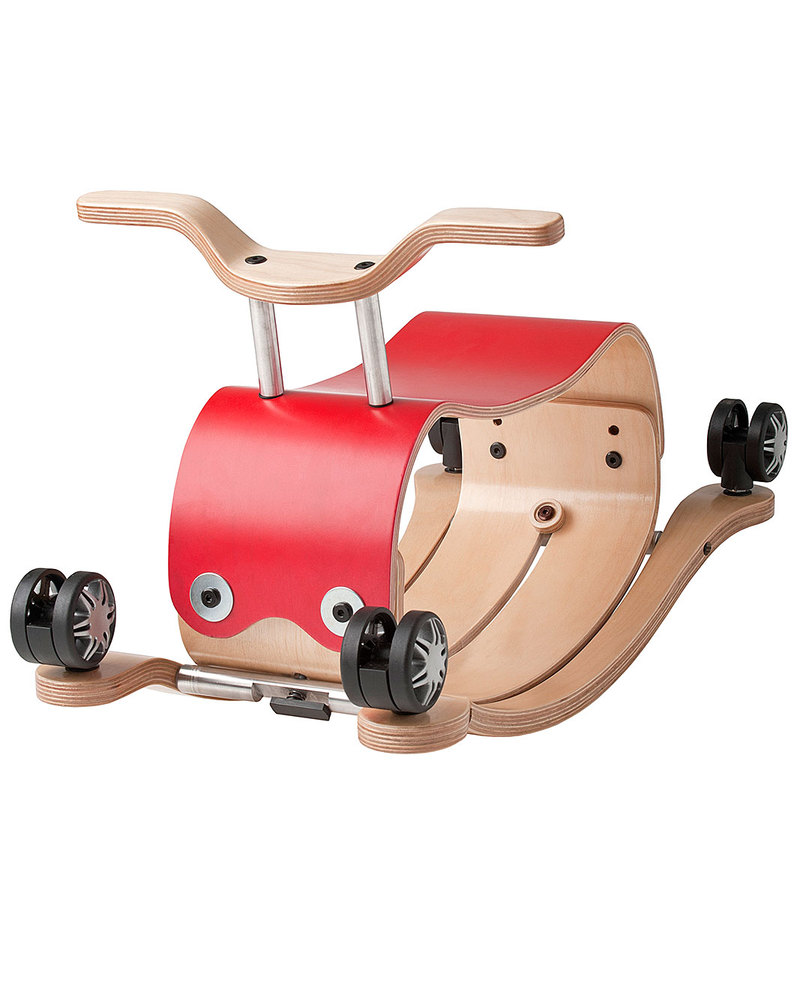 Wishbone Design Studio Wishbone Flip 3 In 1 Red Indoor Ride On Toy Grows With Your Child Adaptable From Ages 1 To 5 Super Sustainable Unisex Bambini