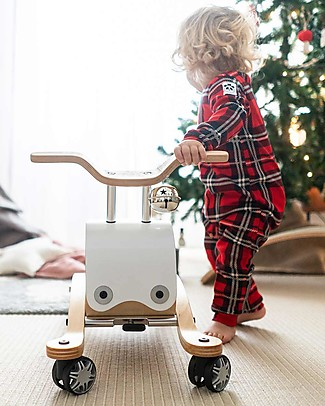 Wishbone Design Studio Wishbone Flip 3 in 1 White Indoor Ride-on Toy: grows with your child (adaptable from ages 1 to 5) Super-sustainable! Rides On