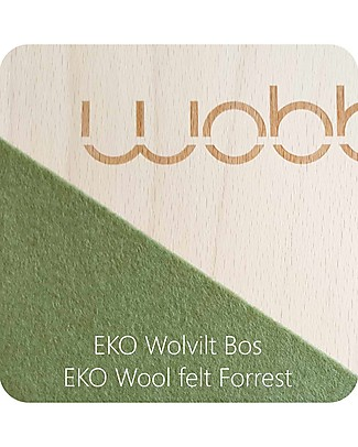 Wobbel Wobbel XL (from 7 years) Wooden Balance Board, Transparent Lacquer with Felt - Forest  - Fun and exercise for kids and adults Rides On