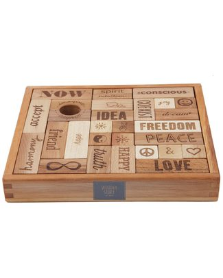 Wooden Story Peace&Love® Blocks- 29 pieces (give a gift of peace and friendship!) Wooden Blocks & Construction Sets