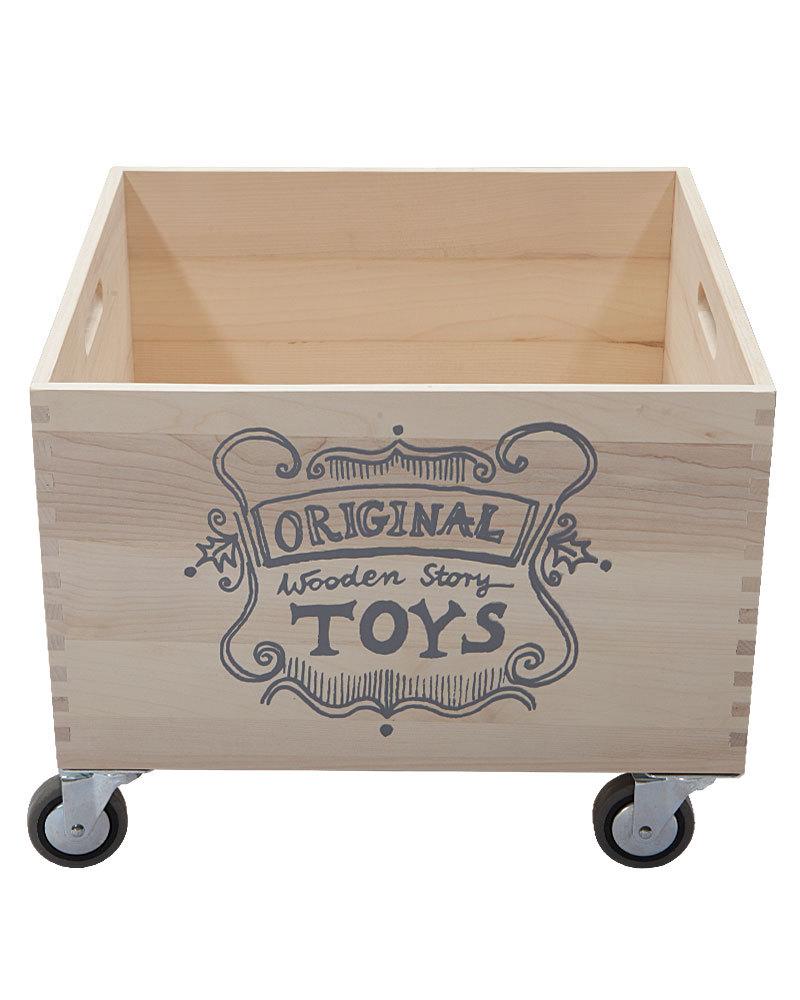 beautiful wooden storage box with wheels box