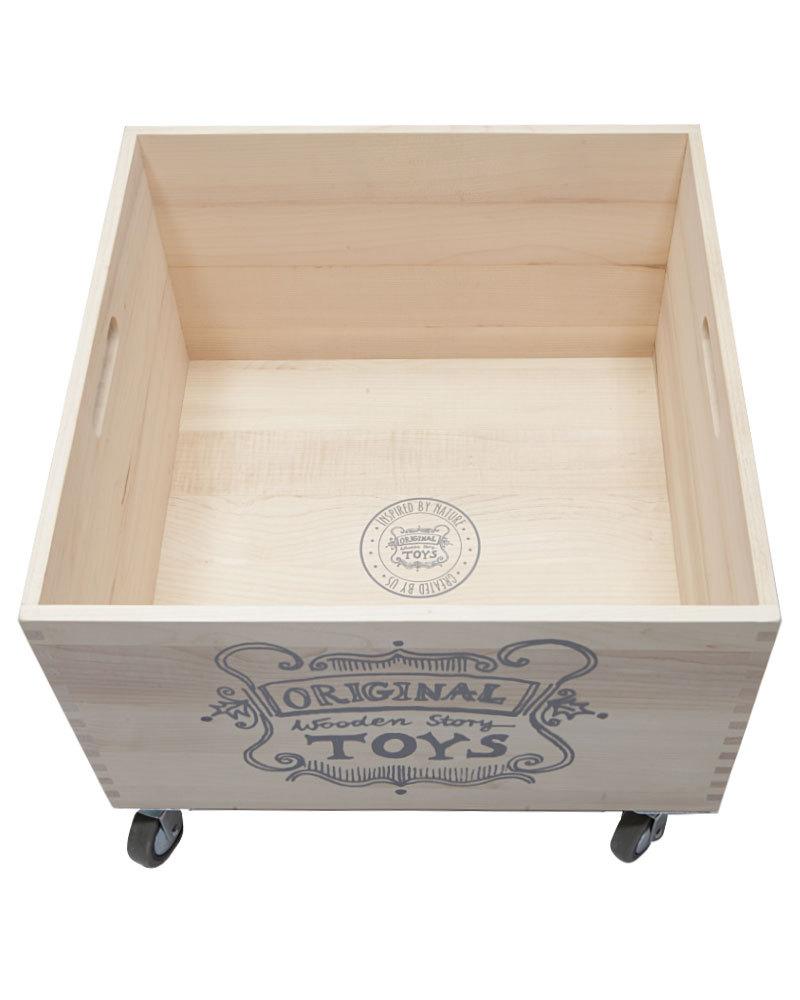 original wooden storage box with wheels 8