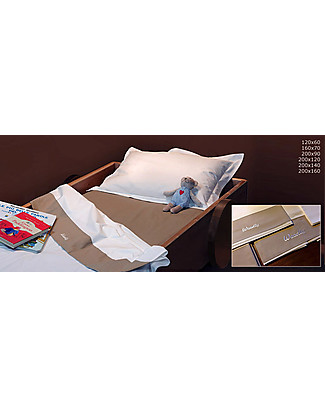 Woodly 3-Pieces Bed Set SMALL with Duvet Cover, Fitted Sheet and Pillowcase, White or Brown - For Mattresses 120x60cm Bed Sheets