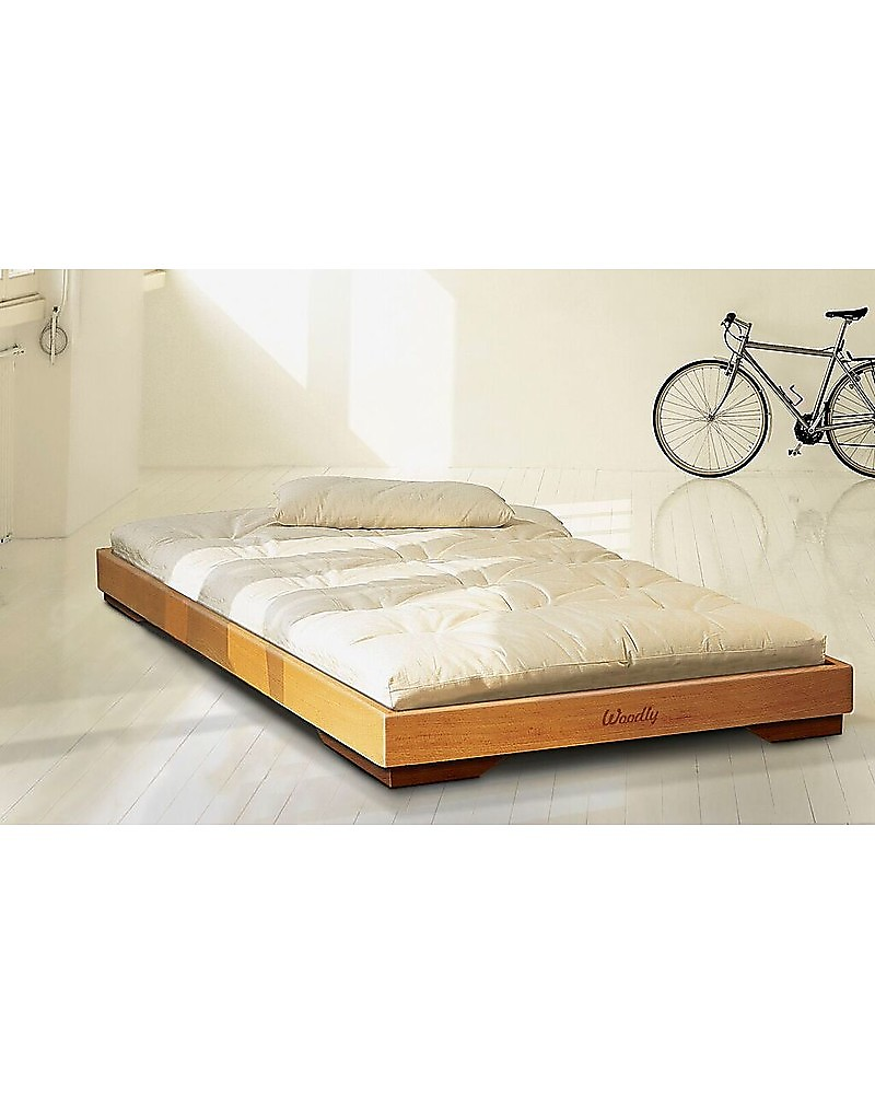 Woodly Futon Mattress 140x180 Cm 100 Untreated Cotton Perfect For Low Beds