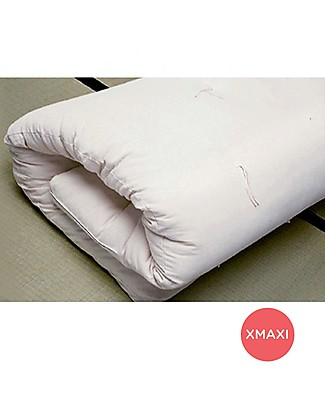 Woodly Futon Mattress XMAXI 120 x 200 cm - 100% Untreated Cotton - Perfect for Low or Montessori beds! Mattresses