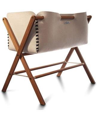 Woodly Pluma Crib - Brown - Wool and Wood - Made in Italy Cribs & Moses Baskets