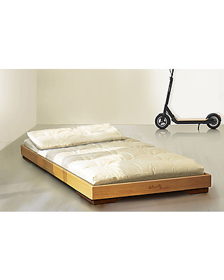 Woodly Pure Low Bed Maxi - Natural Fir - 90 x 200 cm - Made in Italy Montessori Beds