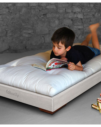 Woodly Pure Montessori Bed BIG 160x70 cm - Shabby White - Made in Italy Montessori Beds